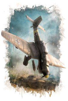 August 1940 - On this day in World War Two history, After heavy losses, the Germans withdraw Ju 87 Stuka dive-bombers from combat… Ww2 Aircraft, Fighter Aircraft, Military Aircraft, Fighter Jets, Luftwaffe, War Thunder, Airplane Art, Ww2 Planes, Aviation Art
