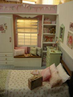 A room diorama 1:6 for blythe, pullip, momoko, barbie, licca, azone, pure neemo etc