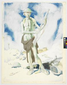 Blown Up 1917 Canvas Print / Canvas Art by Orpen William Ww1 Art, Research Images, Shell Shock, Post Impressionism, Art Database, First World, Great Artists, Sketches, Drawings