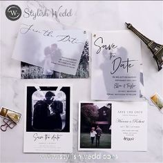 Save the date? Our digital printing STD card inspired by printing on vellum and adding a modern photo layer!