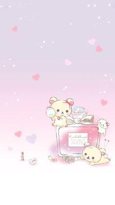Rilakkuma Wallpaper, Sanrio Wallpaper, Kawaii Wallpaper, Iphone Wallpaper, Cute Pastel Wallpaper, Hello Kitty Art, Cute Animal Drawings Kawaii, Lines Wallpaper, Peace And Love