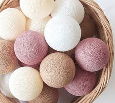 Rosy Brown Pastel 20 Handmade Cotton Thread Balls – Party, Wedding, Holiday, Festival, Decoration, Display Window on Etsy, ฿199.67