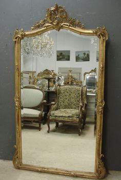 Antiques Atlas - Large Antique French Mirror