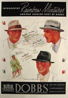1936 Dobbs Rainbow Mixtures Hat Ad