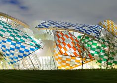 The colorful installation at the Fondation Louis Vuitton.