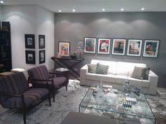 Sala decorada Etna - papel de parede Bobinex cinza