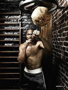 "The second you say, ""I will start later, or tomorrow."" Then you should not do it at all because it's not important enough to start right now. Boxing Posters, Boxing Quotes, Boxing Training, Boxing Workout, Jiu Jitsu, Karate, Roy Jones Jr, Professional Boxing, Martial"