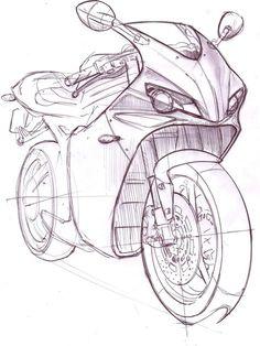 Rieju by Mark Wells at Bikes Motorräder Motorcycle Art, Bike Art, Motorbike Drawing, Cycle Painting, Bike Sketch, Car Sketch, Motorbike Design, Industrial Design Sketch, Car Design Sketch