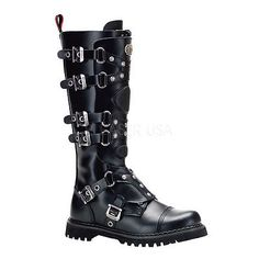 Demonia gravel-22 #leather #boots  - gothic,goth,steampunk,black,#boots,steam,pun,  View more on the LINK: 	http://www.zeppy.io/product/gb/2/251716781359/