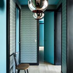 Turquoise yes please!  Juxtaposed with the Black trim and light floors. Perfectly done.  Found on french by design via bloglovin.com.  2 great sources of #designinspirations #turquoise #dscolor #flashesofdelight #interiorandhome #interiorlove #homestaging #designinspo #victorian #modernretro #wallpaper #colorfulhome #vintagedecor