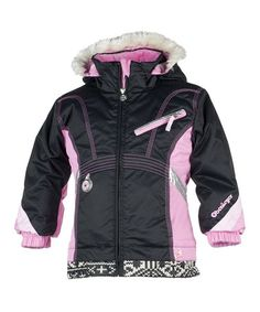 Take a look at this Black Sunrise Jacket - Girls by Obermeyer on #zulily today!