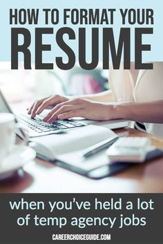 Combination style administrative assistant resume sample for someone who has worked a lot of contract positions through a temporary staffing agency. Resume Advice, Resume Writing Tips, Resume Help, Job Resume, Resume Ideas, Resume Examples, Career Advice, Cover Letter Tips, Cover Letter For Resume