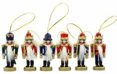 "3""WOODEN NUTCRACKER ORNS 6PC by Kurt Adler. $12.09. 3""WOODEN NUTCRACKER ORNS 6PC"