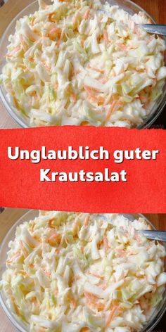 Incredibly good coleslaw - We have this salad in our snack bar. There are days when I have an appetite for something fried unhealthy - food # . Salad Recipes Healthy Lunch, Salad Recipes For Dinner, Healthy Low Carb Recipes, Chicken Salad Recipes, Recipes Breakfast Video, Healthy Breakfast Recipes, Dinner Healthy, Coleslaw, Easy Meals