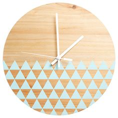 Home Décor & Decorations Available At Target.com.au Wood Home Decor, Blue Home Decor, Diy Furniture Accessories, Blue Clocks, Wooden Clock, Kmart Home, Inspiration Wall, Clock Decor, Wooden House