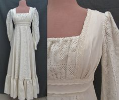 Gunne Sax by Jessica Edwardian Maxi Cut Out by GabAboutVintage