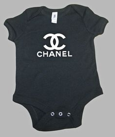 Baby Onesie Chanel Inspired Choose your size by VintVant on Etsy, $18.00