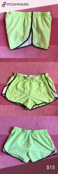 Under Armour lime green and grey running shorts Under Armour lime green and grey running shorts Under Armour Shorts