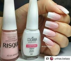Anyone can wear a great outfit, but it's her nails that make the STATEMENT! Love Nails, How To Do Nails, Pretty Nails, My Nails, Kawaii Nail Art, Manicure Y Pedicure, White Nails, Natural Nails, Nail Tips