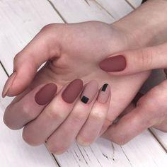 56 unique and beautiful personality nail colors designs - page 13 of Pretty Nail Designs, Colorful Nail Designs, Fall Nail Designs, Matte Nails, My Nails, Acrylic Nails, Minimalist Nails, Solid Color Nails, Nail Colors