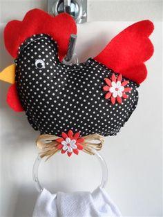 galinha porta pano de prato em feltro molde - Pesquisa Google