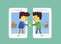 Üzleti kereskedelem által okostelefon