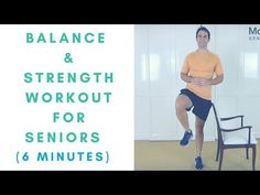 7 minute Seniors balance and strength exercises workout. To help you get stronger and balance better. ►► Get my *FREE* Four Week Exercise Ebook For Seniors →. Flexibility Workout, Strength Workout, Strength Training, Gym Workouts, At Home Workouts, Piercings, Increase Stamina, Benefits Of Exercise, Senior Fitness