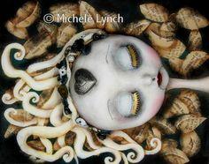 Original lowbrow pop surealism Steampunk Art Doll Fairy Tale Painting, via Etsy.