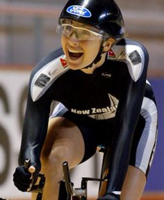 Olympic Athlete Sarah Ulmer makes cycling look easy