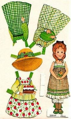 Gingham Girls Paper Doll