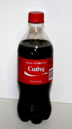 Share-a-Coke-Bottle-CATHY-Coca-Cola-20-Oz-Ounce-2014-Limited-Edition