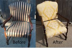 Restorated the wood finish with a new upholstery