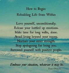 Rebuilding your life.  A recovery from narcissistic sociopath relationship abuse.