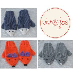 Baby And Child Crochet Animal Mittens by Viv and Joe. So cute. Must find a knitting pattern for similar mittens.