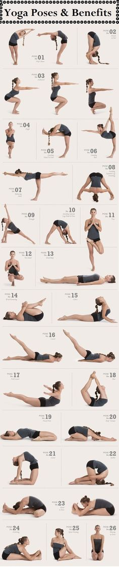 These are the poses used for bikram. Love this sequence!