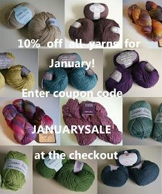 10% off all yarns from today, throughout January!