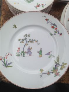 Chinoiseries Bernardaud limoges Chinoiserie, Decorative Plates, Tables, Tableware, Kitchen, Home Decor, Mesas, Dinnerware, Cooking