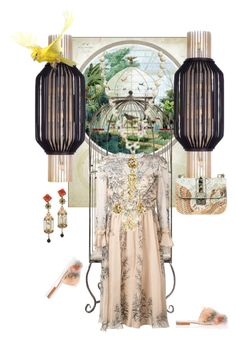 """""""Gilded cage"""" by palmgrass99 ❤ liked on Polyvore featuring Maxim, Of Rare Origin, Philosophy di Lorenzo Serafini, Valentino, Chanel and Manolo Blahnik"""
