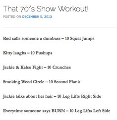 That 70s Show Workout