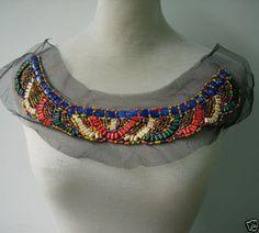 NK262-BOHO-Ethnic-Collar-Neck-Wood-Beaded-Tulle-Applique-Motif