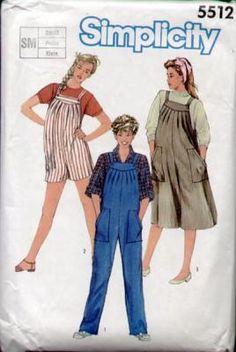 Simplicity 5512 Vintage 80s Tucked Maternity Dress Pattern B34