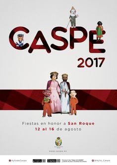 Resultado de imagen de cartel san roque caspe 2017