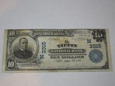 $10 1902 Tiffin Ohio OH National Currency Bank Note Bill! Ch. #3315 XF! Great! http://www.collectiblenotes.com/10-1902-tiffin-ohio-oh-national-currency-bank-note-bill-ch-3315-xf-great/