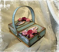 Tutorial of Matchbox recycled to make beautiful picnic basket. check out this blog lots of creative papercraft ideas