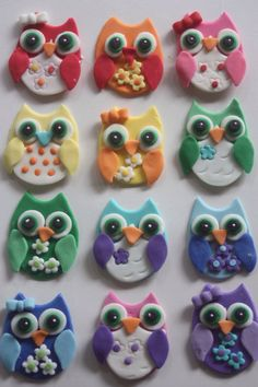 Clay owls @Tatjana Schweizer Lover.... make me one                                                                                                                                                     More