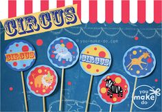 INSTANT DOWNLOAD customizable circus party circus by youmakedo, $18.00 ******