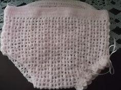 No Tempo da Vovó: Calcinha de croche para bebê