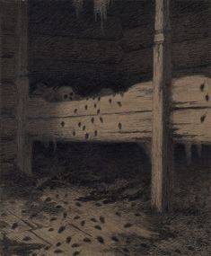 Theodor Kittelsen - Illustration of the Black Death, Mouse Town, 1900