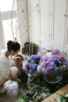 Masaki's diary Jun 2014 Green Flowers, Cut Flowers, Plant Cuttings, Treasure Maps, Interior Garden, French Chic, Flower Of Life, Masaki, Flowering Trees