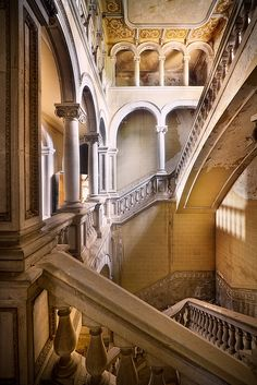 """'a[maze] of solitude' """"My first experience in Spanish lost places. I really loved this place, especially this unique staircase..."""" (Sven Fennema/boundlessmind.flickr.) Photo taken July 6, 2011"""
